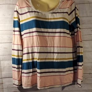 2 for 15 Sonoma Striped Multi Color Top